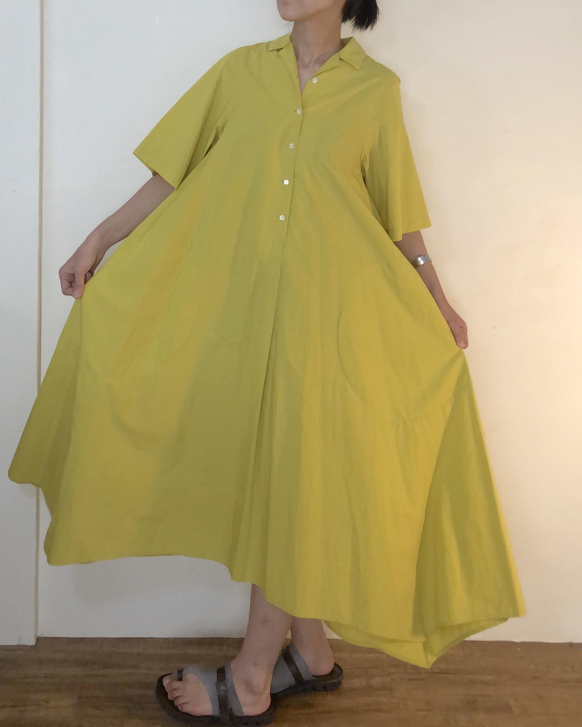 RaPPELER オープンカラーシャツドレス
