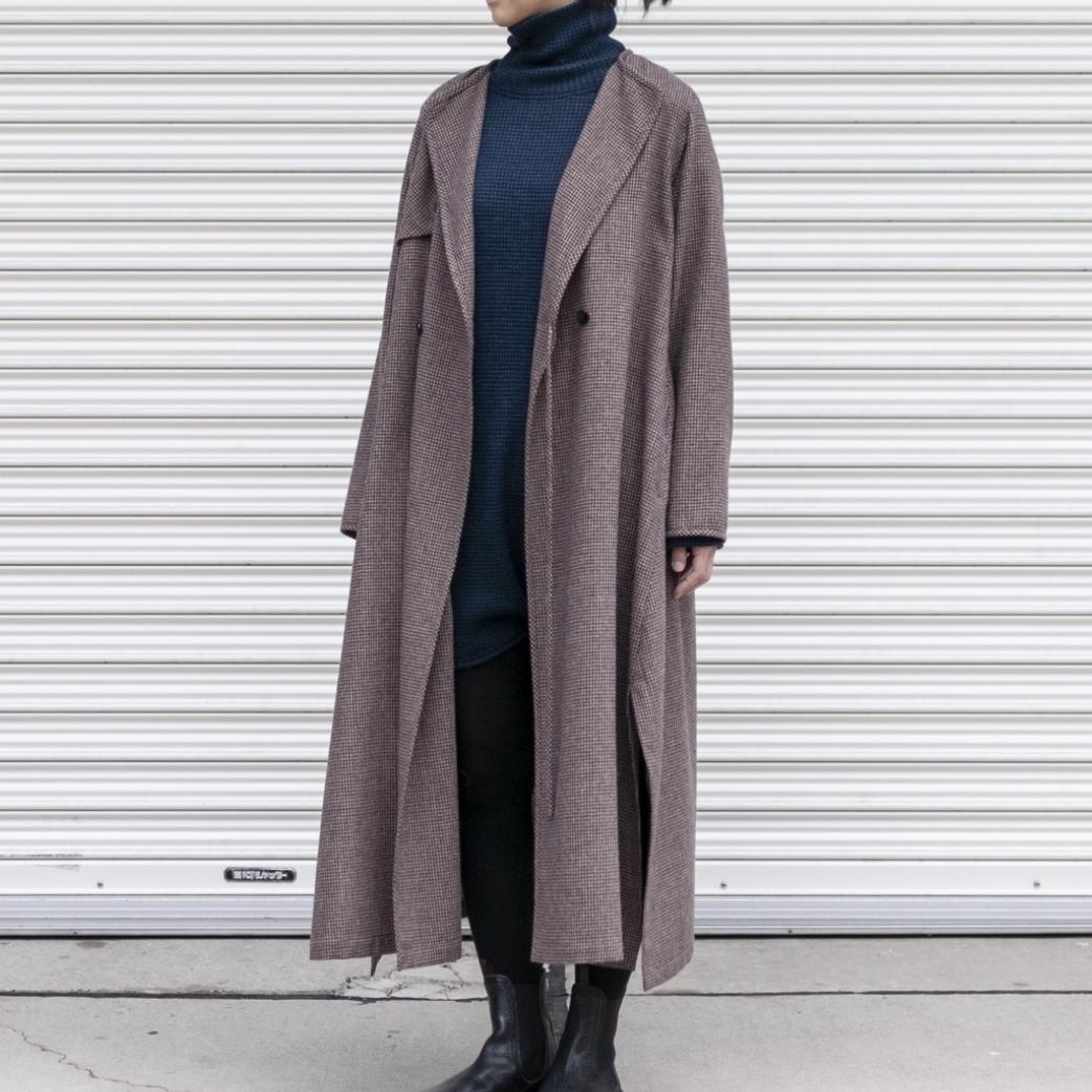[RaPPELER] RE-NEW WOOL JAPAN TWEED TRENCH COAT