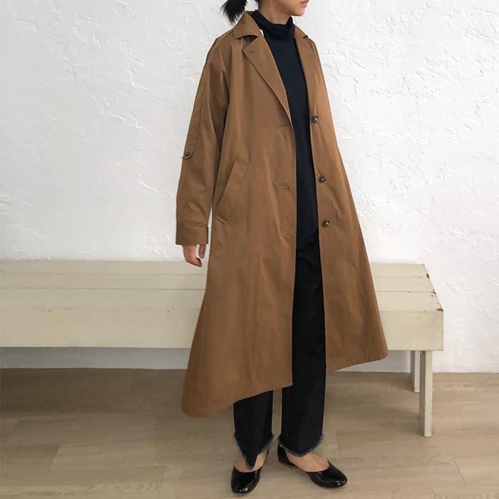 [Harriss] TAILORED COLLAR LONG COAT