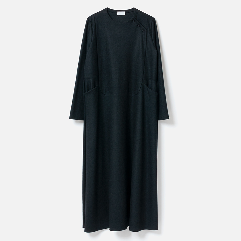 [RaPPELER] VOILED WOOL JERSY ONE-PIECE