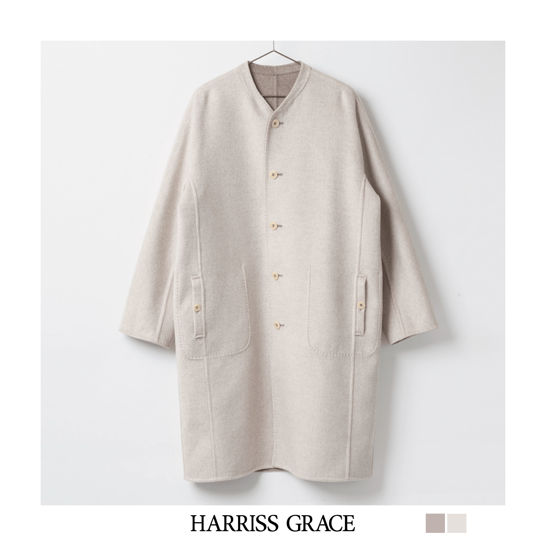 [HARRISS GRACE] CASHMERE LONG COAT